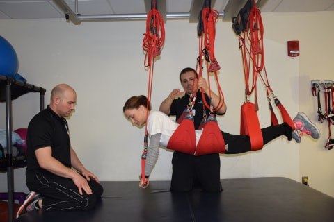 Training using body weight and slings